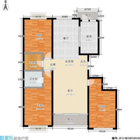 银座花园3室0厅2卫1厨138.06㎡户型图