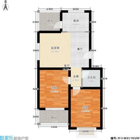 温泉公寓2室0厅1卫1厨93.00㎡户型图