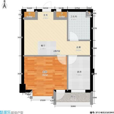 御龙湾1室0厅1卫1厨48.00㎡户型图
