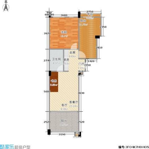 洱海传奇1室1厅1卫0厨85.00㎡户型图