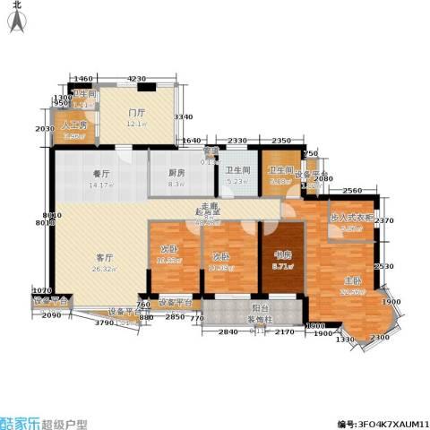 海晟维多利亚4室0厅3卫1厨220.00㎡户型图