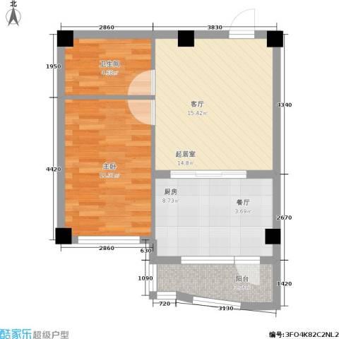 光伸绿洲半岛1室0厅1卫1厨50.00㎡户型图