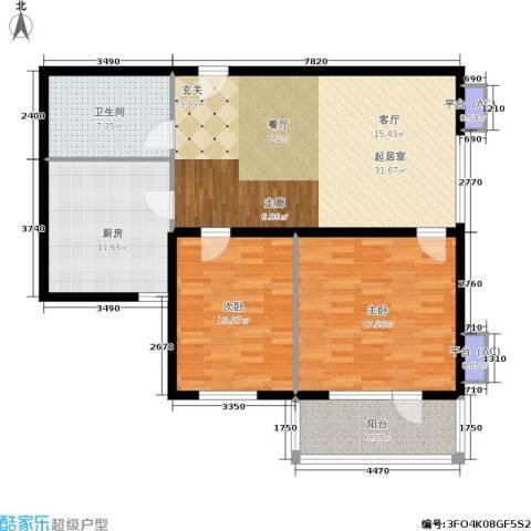 水晶公寓2室0厅1卫1厨89.52㎡户型图
