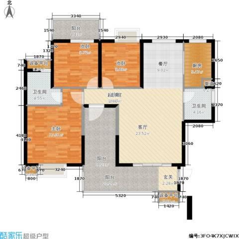 海晟维多利亚3室0厅2卫1厨156.00㎡户型图