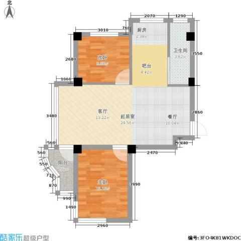 光伸绿洲半岛2室0厅1卫0厨60.00㎡户型图