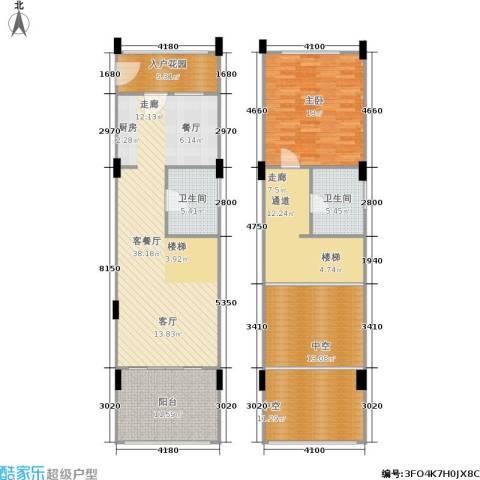 洱海传奇1室1厅2卫0厨164.00㎡户型图