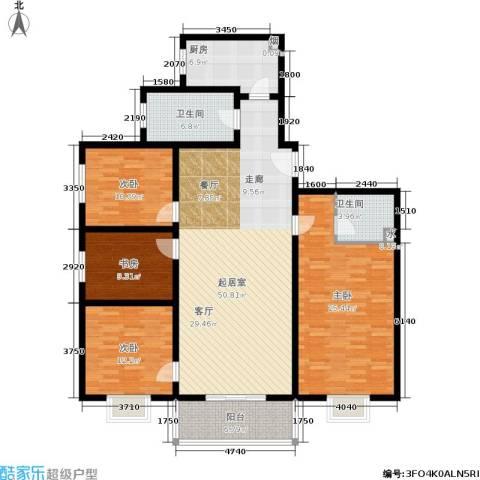 唐宫尚品4室0厅2卫1厨146.00㎡户型图