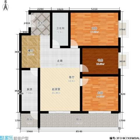 秦地雅仕3室0厅1卫1厨161.00㎡户型图