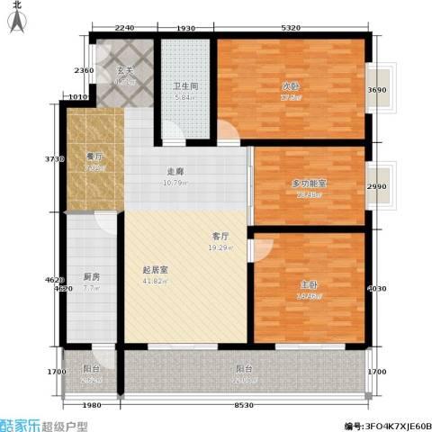 秦地雅仕2室0厅1卫1厨161.00㎡户型图