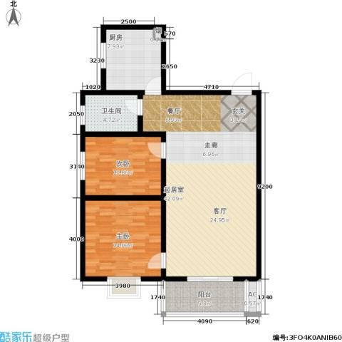 唐宫尚品2室0厅1卫1厨98.00㎡户型图