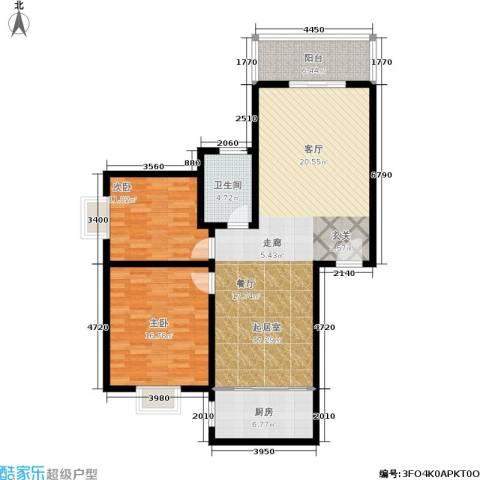 唐宫尚品2室0厅1卫1厨104.00㎡户型图