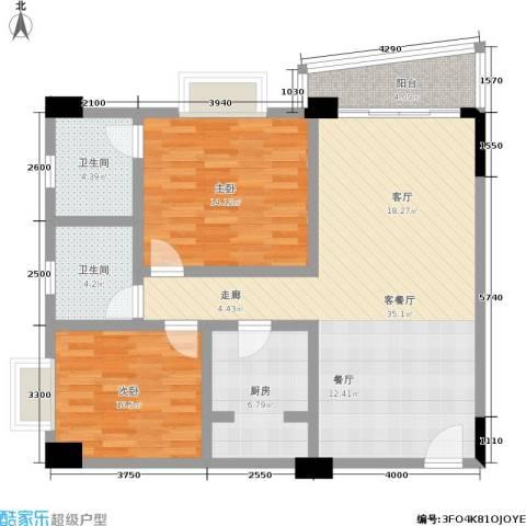 花街182室1厅2卫1厨115.00㎡户型图