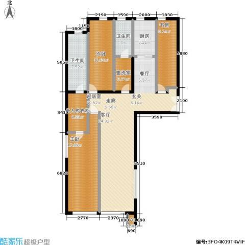 颐和香榭3室0厅2卫1厨123.00㎡户型图