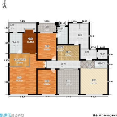 荣兴云天3室0厅3卫1厨245.00㎡户型图