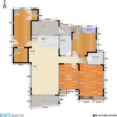 上寓3室1厅2卫0厨99.00㎡户型图