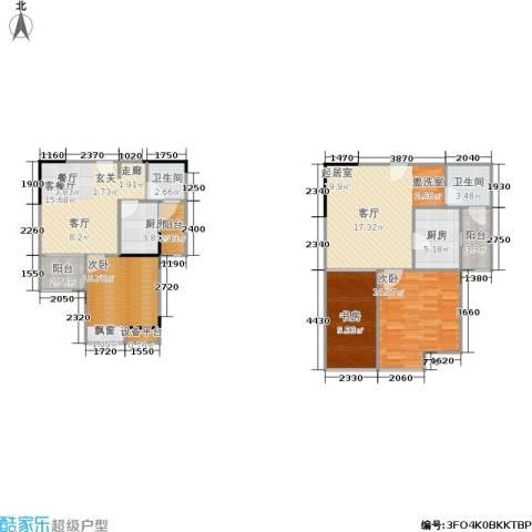 荣升部落格3室1厅2卫2厨128.00㎡户型图