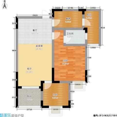 朵力欣元2室0厅1卫1厨70.00㎡户型图