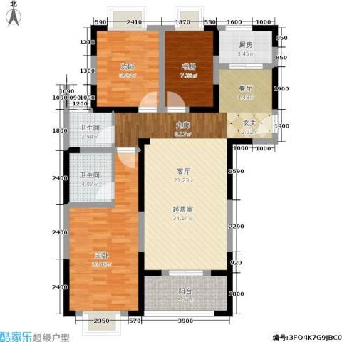 添锦明居3室0厅2卫1厨97.00㎡户型图