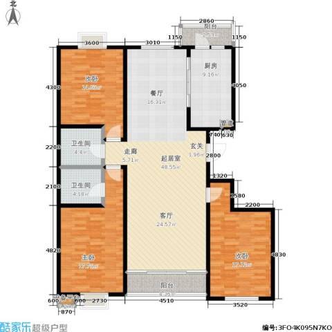 银座花园3室0厅2卫1厨172.00㎡户型图