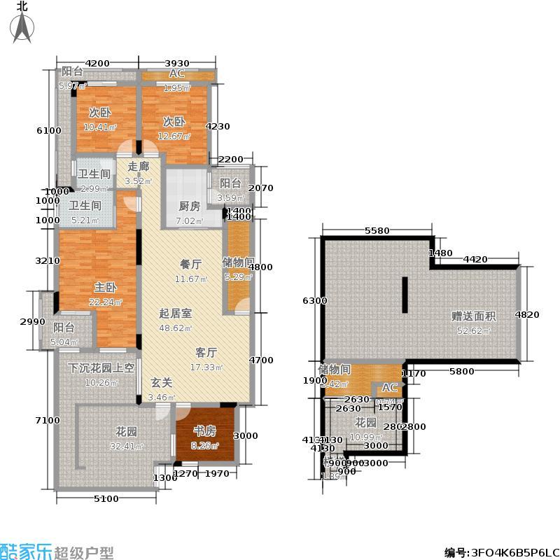 金科天湖小镇165.00㎡39号A1户型 四室两厅双卫 赠送面积135平米.jpg户型4室2厅2卫