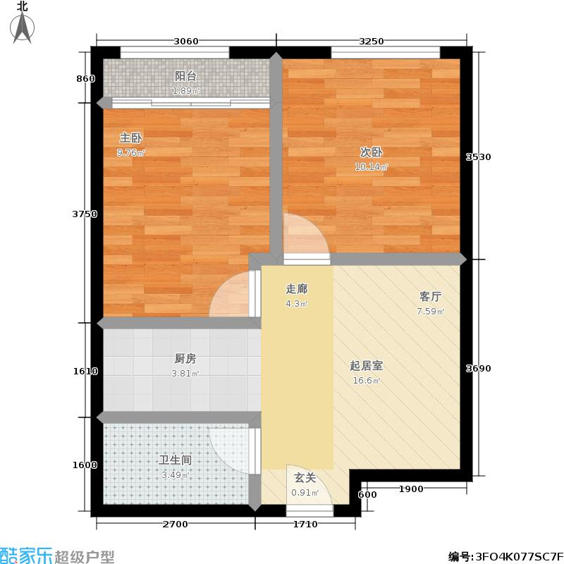 香港国际70.00㎡B6户型
