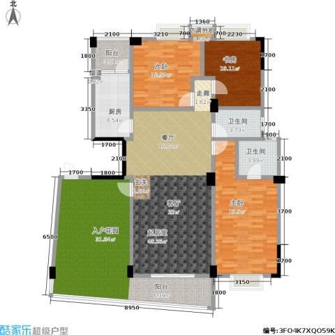 湘江北尚3室0厅2卫1厨186.00㎡户型图