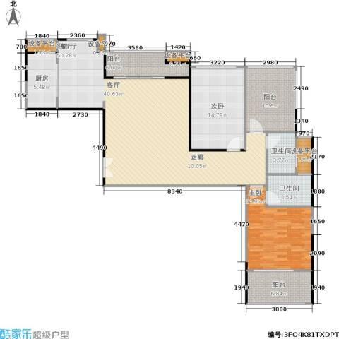 联发五缘湾1号2室1厅2卫1厨164.00㎡户型图