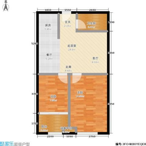 香港国际2室0厅1卫0厨70.00㎡户型图