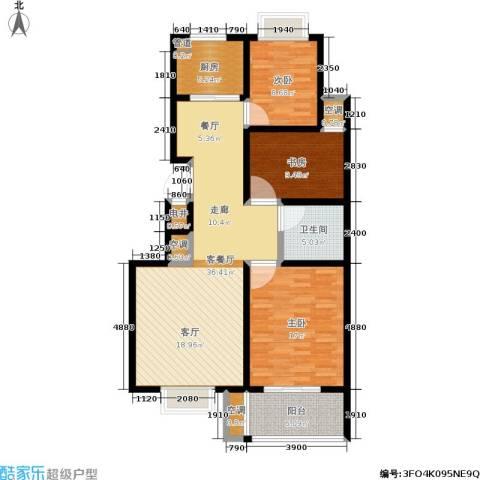 腾骐冠宸3室1厅1卫1厨106.00㎡户型图