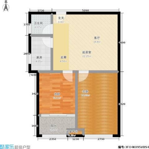 香港国际2室0厅1卫1厨70.00㎡户型图