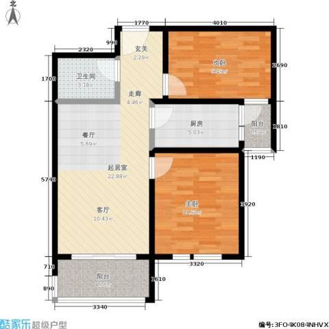 香港国际2室0厅1卫1厨90.00㎡户型图