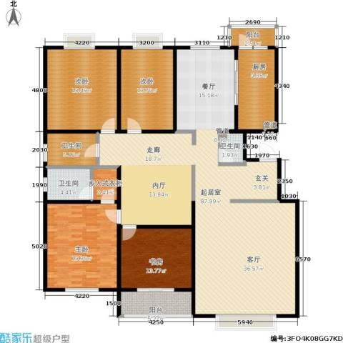 银座花园4室0厅3卫1厨232.00㎡户型图