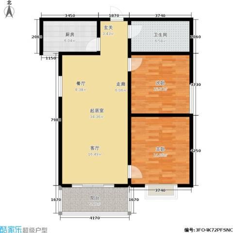港丽城2室0厅1卫1厨89.00㎡户型图
