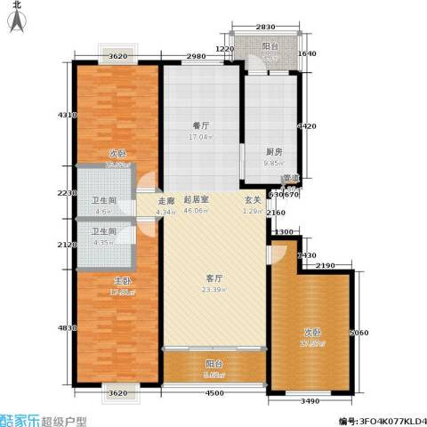 银座花园3室0厅2卫1厨174.00㎡户型图