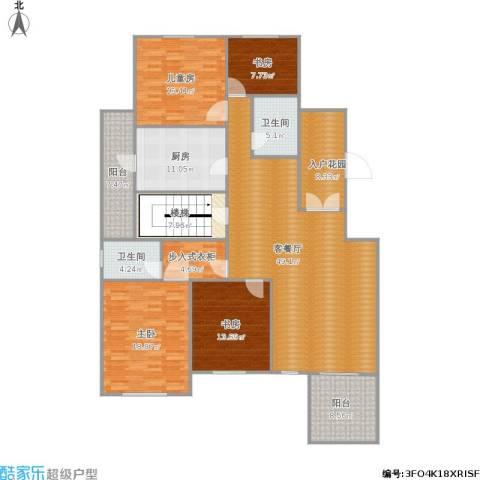 金科米兰米兰4室1厅2卫1厨214.00㎡户型图
