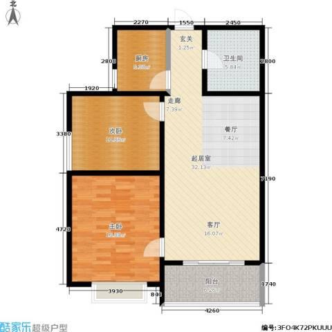 港丽城2室0厅1卫1厨87.00㎡户型图