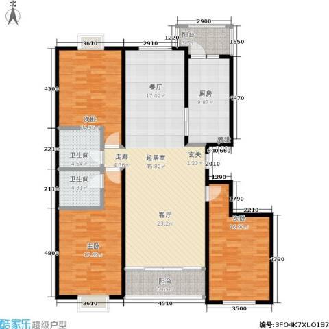 银座花园3室0厅2卫1厨138.13㎡户型图