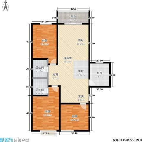 港丽城3室0厅2卫1厨125.00㎡户型图