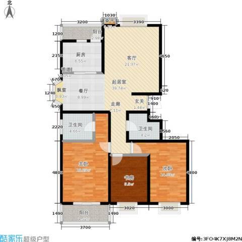 银座花园3室0厅2卫1厨140.00㎡户型图