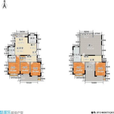 龙湖文馨苑5室0厅3卫1厨220.38㎡户型图