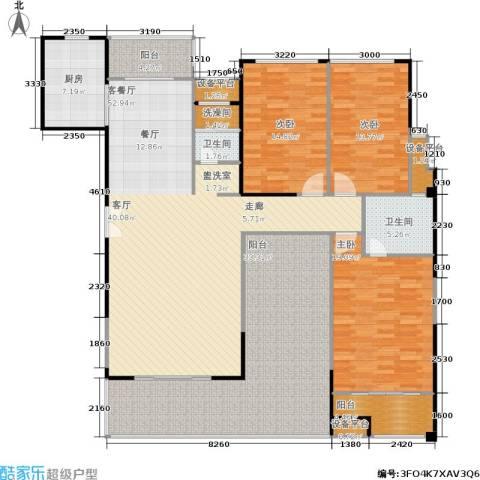 联发五缘湾1号3室1厅2卫1厨216.00㎡户型图