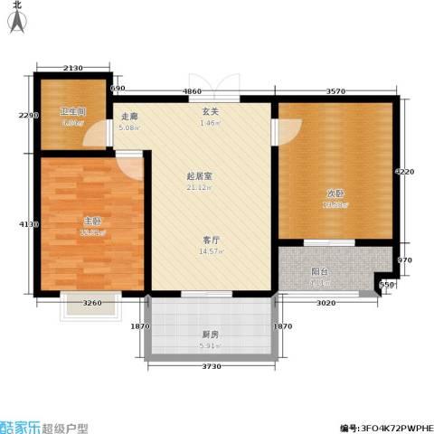 港丽城2室0厅1卫1厨84.00㎡户型图