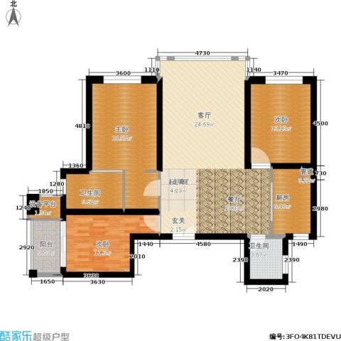 中骏天峰3室0厅2卫1厨150.00㎡户型图