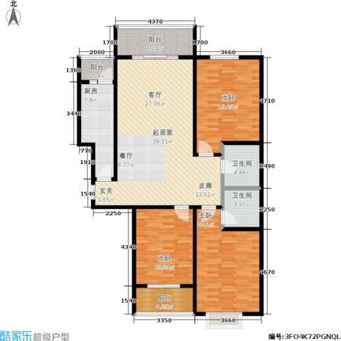 港丽城3室0厅2卫1厨129.00㎡户型图