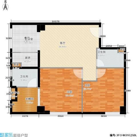 小寨金莎2室0厅2卫1厨156.00㎡户型图