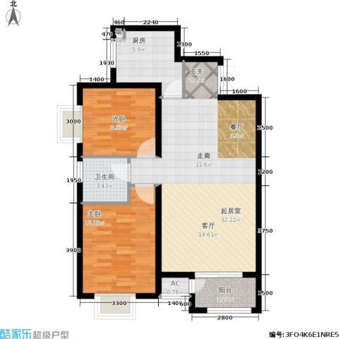 发祥福邸2室0厅1卫1厨97.00㎡户型图