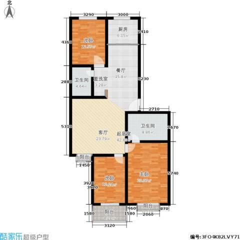 精良佳境3室0厅2卫1厨160.00㎡户型图