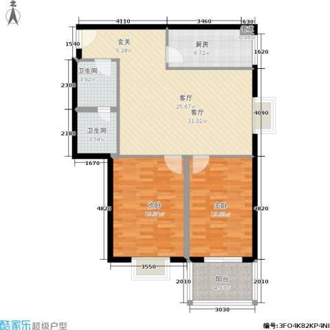 精良佳境2室1厅2卫1厨111.00㎡户型图