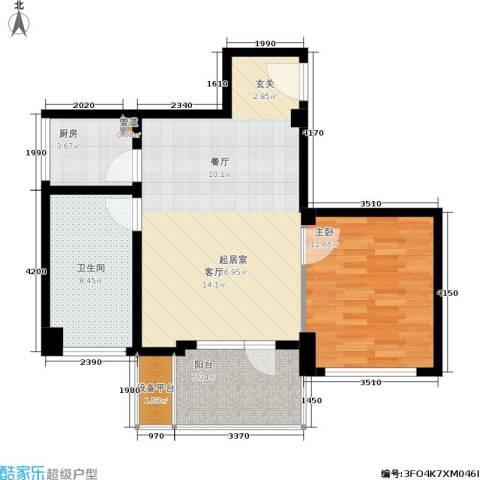 中骏天峰1室0厅1卫1厨73.00㎡户型图