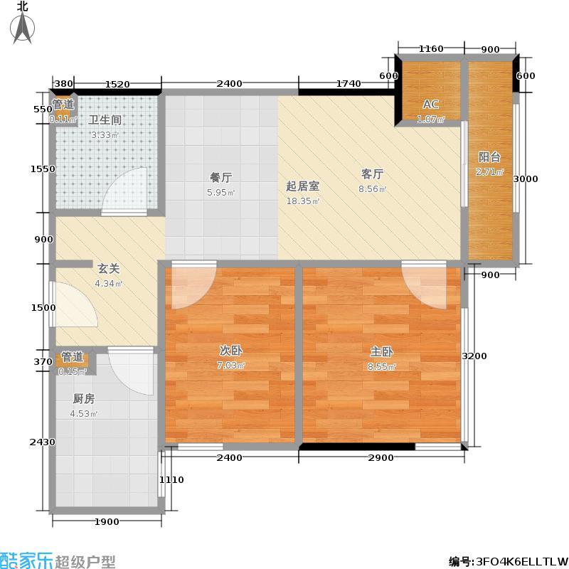 正恒国际广场正恒国际广场户型图一房52㎡(26/28张)户型10室